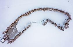 THEMENBILD - Blick auf einen zugefrorenen See, aufgenommen am 16. Januar 2019 in Piesendorf, Oesterreich // View of a frozen lake in Piesendorf, Austria on 2019/01/15. EXPA Pictures © 2019, PhotoCredit: EXPA/ JFK
