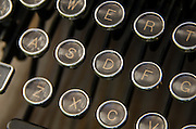 Closeup of vintage typewriter keys