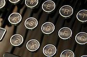 Closeup of vintage typewriter keys