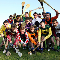 Clare jockey's getting ready to take on their Limerick counterparts in a hurling match in Newmarket-on-Fergus at 7:30 on Thursday evening in aid of the Asantos/Injured Jockey's fund.<br />Photograph by Yvonne Vaughan