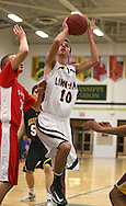 Linn-Mar's Matt Lassen (10) eyes the basket during the 2013 Eastern Iowa All-Star Basketball Game at Iowa City West High School in Iowa City on Wednesday, March 27, 2013. The South (dark) defeated the North (white) 87-79.