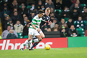Dundee's Mark O'Hara shadows Celtic's Scott Sinclair - Celtic v Dundee in the Ladbrokes Scottish Premiership at Celtic Park, Glasgow. Photo: David Young<br /> <br />  - © David Young - www.davidyoungphoto.co.uk - email: davidyoungphoto@gmail.com
