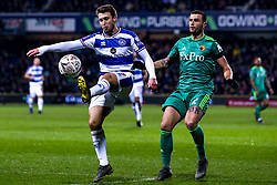 Luke Freeman of Queens Park Rangers takes on Daryl Janmaat of Watford - Mandatory by-line: Robbie Stephenson/JMP - 15/02/2019 - FOOTBALL - Loftus Road - London, England - Queens Park Rangers v Watford - Emirates FA Cup fifth round proper