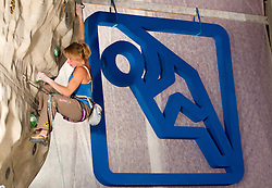 Fourth placed Angela Eiter of Austria during Final IFSC World Cup Competition in sport climbing Kranj 2010, on November 14, 2010 in Arena Zlato polje, Kranj, Slovenia. (Photo By Vid Ponikvar / Sportida.com)