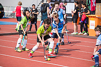 AMSTERDAM  -  3v3 urban hockey in het Olympisch Stadion tijdens de NextGen Games. Gemeente Amsterdam. COPYRIGHT  KOEN SUYK