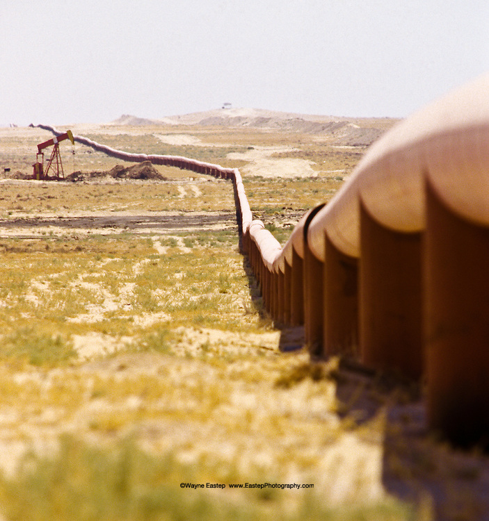Oil & Gas pipeline along Kuwait border with Saudi Arabia (PNZ)