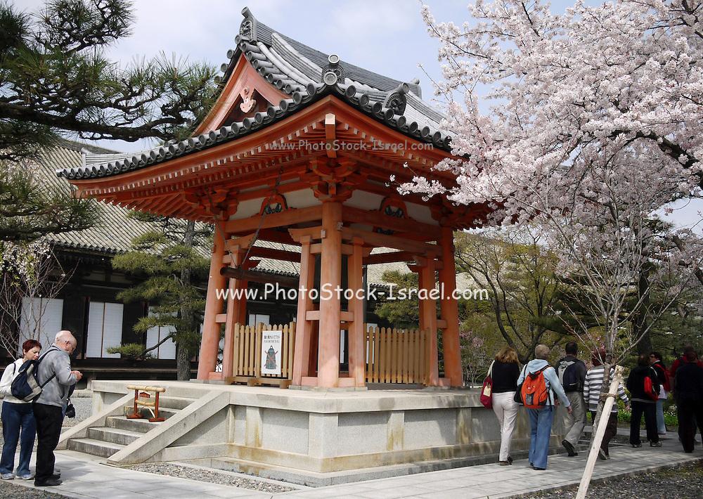 Japan, Honshu, Kyoto, Kiyomizu-Dera temple, The bell