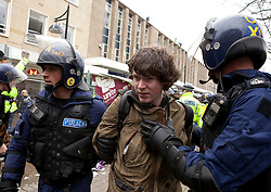 © under license to London News Pictures. FILE PICTURE. Protest in Bolton. 22/11/2010: Charges against three anti-fascist protesters, arrested during a protest against the English Defence League in Bolton, have been dropped.