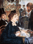 'The Cafe', c2876-1877: Pierre August Renoir (1841-1919) French painter . Oil on canvas.