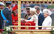 "QUEEN and ROYAL FAMILY on board .The Spirit of Chartwell, for the start of her Royal Pageant on the River Thames, London, part of her Diamond Jubilee Celebrations..Other Royals present were The Duke of Edinburgh, Prince Charles and Duchess Camilla, The Duke and Duchess of Cambridge, Prince Harry, Middleton Family_03/06/2012.Mandatory Credit Photo: ©SB/NEWSPIX INTERNATIONAL..**ALL FEES PAYABLE TO: ""NEWSPIX INTERNATIONAL""**..IMMEDIATE CONFIRMATION OF USAGE REQUIRED:.Newspix International, 31 Chinnery Hill, Bishop's Stortford, ENGLAND CM23 3PS.Tel:+441279 324672  ; Fax: +441279656877.Mobile:  07775681153.e-mail: info@newspixinternational.co.uk"