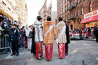 1 February, 2009. New York, NY. Three Miss New York Chinese 2008 are here at the New Year Chinatown Parade. New York Senator Kirsten Gillibrand is here on Mott street in Chinatown for the 10th Annual Chinatown Lunar New Year Parade to give a speech in Mandarin.  Sen. Gillibrand learned the language after she spent a semester in China.<br /> <br /> ©2009 Gianni Cipriano for The New York Times<br /> cell. +1 646 465 2168 (USA)<br /> cell. +1 328 567 7923 (Italy)<br /> gianni@giannicipriano.com<br /> www.giannicipriano.com