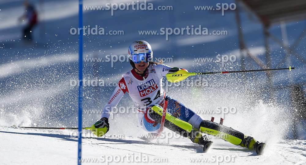 14.02.2015, Birds of Prey, Beaver Creek, USA, FIS Weltmeisterschaften Ski Alpin, Vail Beaver Creek 2015, Damen, Slalom, 2. Durchgang, im Bild Charlotte Chable (SUI) // Charlotte Chable of Switzerland in action during 2nd run of the ladie's Slalom of FIS Ski World Championships 2015 at the Birds of Prey in Beaver Creek, United States on 2015/02/14. EXPA Pictures © 2015, PhotoCredit: EXPA/ Jonas Ericson
