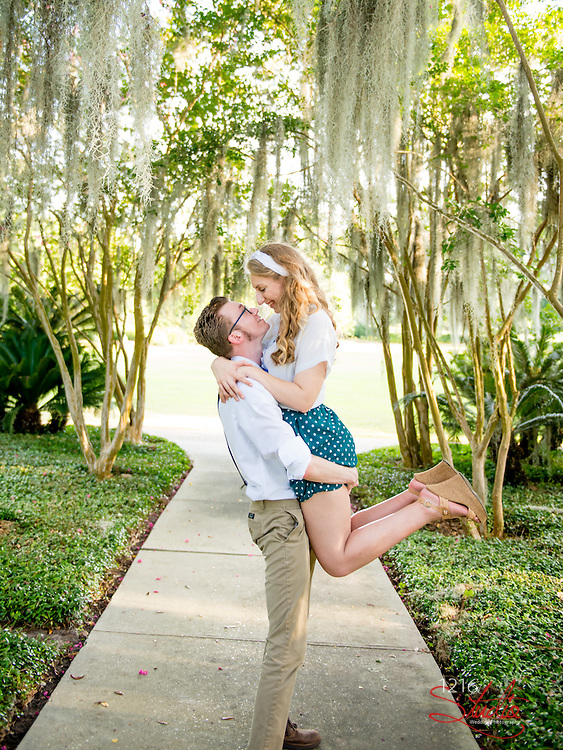 J. Paul & Claire Engagement Samples | Dot's Diner, Dance Studio, Audubon Park | 1216 Studio Wedding Photography