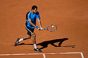 Paris, France. May 30th 2009. .Roland Garros - Tennis French Open. 3rd Round..French player Jo Wilfried Tsonga against Christophe Rochus