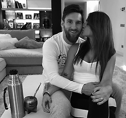 """Leo Messi releases a photo on Instagram with the following caption: """"Feliz d\u00eda mi vida !! Te amo \ud83d\ude0d"""". Photo Credit: Instagram *** No USA Distribution *** For Editorial Use Only *** Not to be Published in Books or Photo Books ***  Please note: Fees charged by the agency are for the agency's services only, and do not, nor are they intended to, convey to the user any ownership of Copyright or License in the material. The agency does not claim any ownership including but not limited to Copyright or License in the attached material. By publishing this material you expressly agree to indemnify and to hold the agency and its directors, shareholders and employees harmless from any loss, claims, damages, demands, expenses (including legal fees), or any causes of action or allegation against the agency arising out of or connected in any way with publication of the material."""