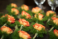 Roses wait for nominees at the VCC Awards dinner 2017