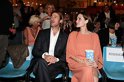 30.07.2011, Sarajevo, BIH, 17th Sarajevo Film Festival, im Bild Angelina Jolie and Brad Pitt in open-air cinema Hey on the final night of the 17th Sarajevo Film Festival. EXPA Pictures © 2011, PhotoCredit: EXPA/ nph/ Pixsell/ HaloPix +++++ ATTENTION - OUT OF GERAMANY / GER, CROATIA / CRO AND BELGIE / BEL +++++