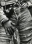 Split ripped Jeans. UK 1980's