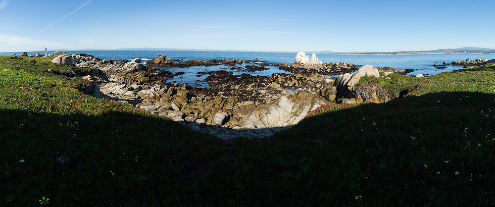 A digital panoramic scenic view near Stanford University's Hopkins Marine Station in Pacific Grove, California, photographed on February 23, 2016. (Stan Olszewski/SOSKIphoto for Hakai Magazine)