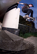 Mark Wallie skateboarding.