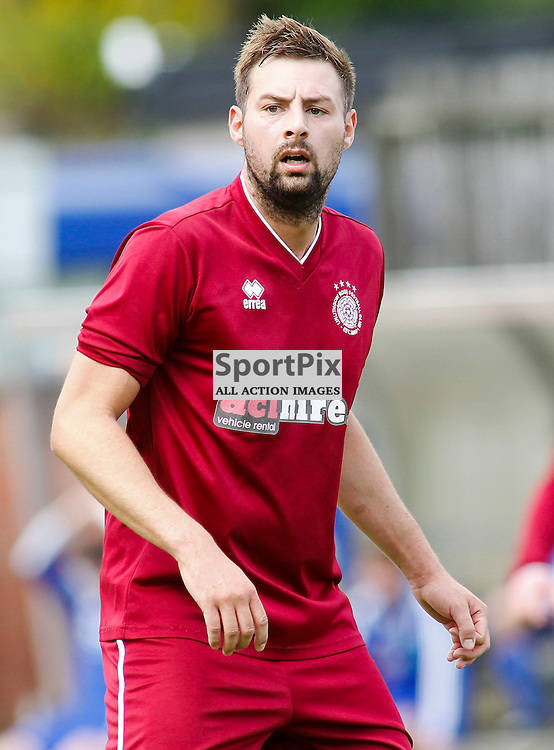 Colin Leiper<br /> in action for Linlithgow Rose who made history when they became the first junior club to reach the Scottish Cup 5th round when they beat Forfar Athletic 1-0 on 26th January 2016<br /> (c) Andrew West | SportPix.org.uk
