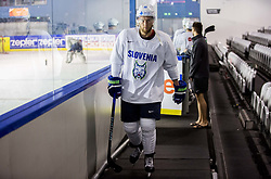 Robert Sabolic of Slovenia during practice session of Team Slovenia at the 2017 IIHF Men's World Championship, on May 8, 2017 in Accorhotels Arena in Paris, France. Photo by Vid Ponikvar / Sportida