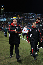 MARSEILLE, FRANCE - Tuesday, December 11, 2007: Liverpool's manager Rafael Benitez before the final UEFA Champions League Group A match against Olympique de Marseille at the Stade Velodrome. (Photo by David Rawcliffe/Propaganda)