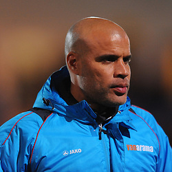 TELFORD COPYRIGHT MIKE SHERIDAN 12/2/2019 - Guiseley joint manager Marcus Bignot, formerly of AFC Telford, during the Vanarama Conference North fixture between AFC Telford United and Guiseley at the New Bucks Head.