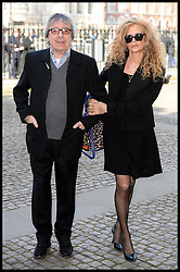 Bill Wyman and wife Suzanne Wyman arrives at Westminster Abbey for the service to celebrate the life and work of Sir David Frost, Westminster Abbey, London, United Kingdom. Thursday, 13th March 2014. Picture by Andrew Parsons / i-Images