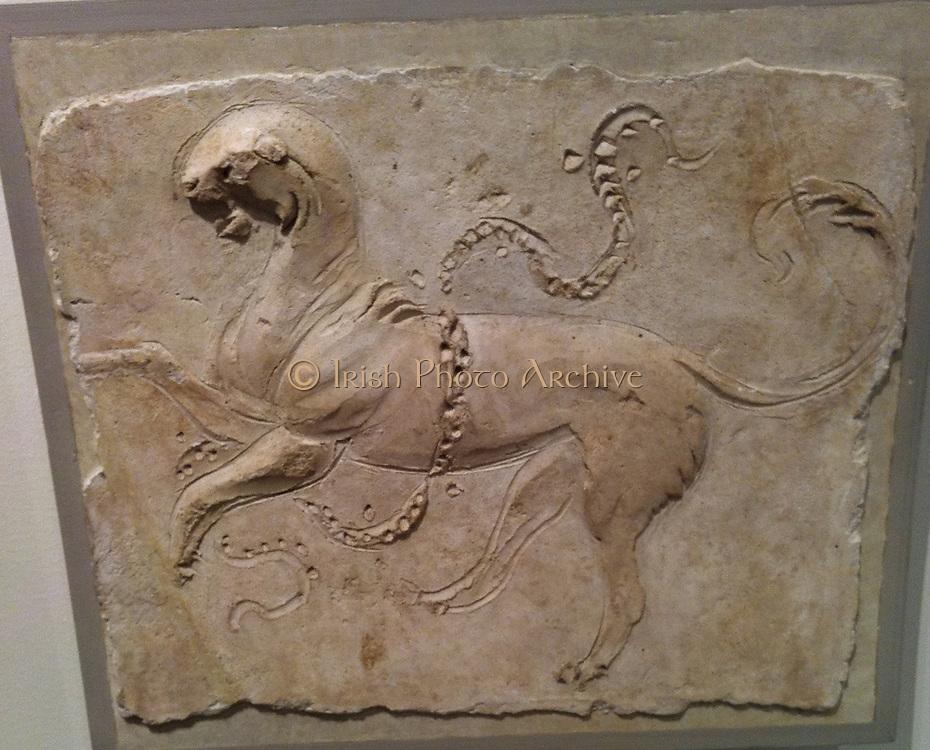 Stucco relief (Roman) depicting a horse. 1st Century AD