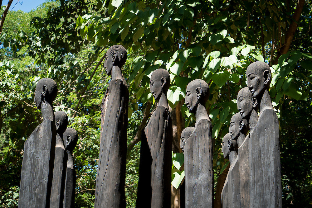 The wood carved statues at the Ankarafantsika National Park in Madagascar welcome the visitor as you enter.  The Ankarafantsika National Park is about 135,000 hectares consisting of patches of thick dry tropical forests.