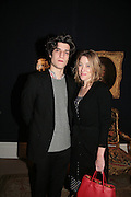 Louis Garel and Valeria Bruni Tedeschi, private view of The Alberto Bruni Tedeschi Collection -  Sotheby's,19 March 2007.  -DO NOT ARCHIVE-© Copyright Photograph by Dafydd Jones. 248 Clapham Rd. London SW9 0PZ. Tel 0207 820 0771. www.dafjones.com.