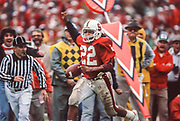 COLLEGE FOOTBALL: Stanford v Cal in the Big Game, Nov 21, 1981 at Stanford Stadium in Palo Alto, California.  Vincent White #22 Stanford.  Photograph by David Madiosn