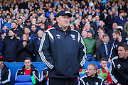 Cardiff City first team manager, Russell Slade during the Sky Bet Championship match between Sheffield Wednesday and Cardiff City at Hillsborough, Sheffield, England on 30 April 2016. Photo by Ellie Hoad.