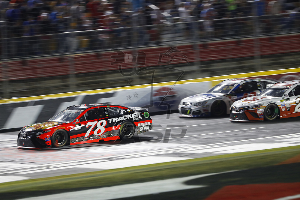 May 28, 2017 - Concord, NC, USA: Martin Truex Jr. (78) battles for position during the Coca Cola 600 at Charlotte Motor Speedway in Concord, NC.