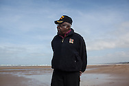 Mr. Knowels on Omaha beach where he landed on D day +7, Due to the segregation in the US army in 1944 he could not partecipate to combact action and he was a supply truck driver