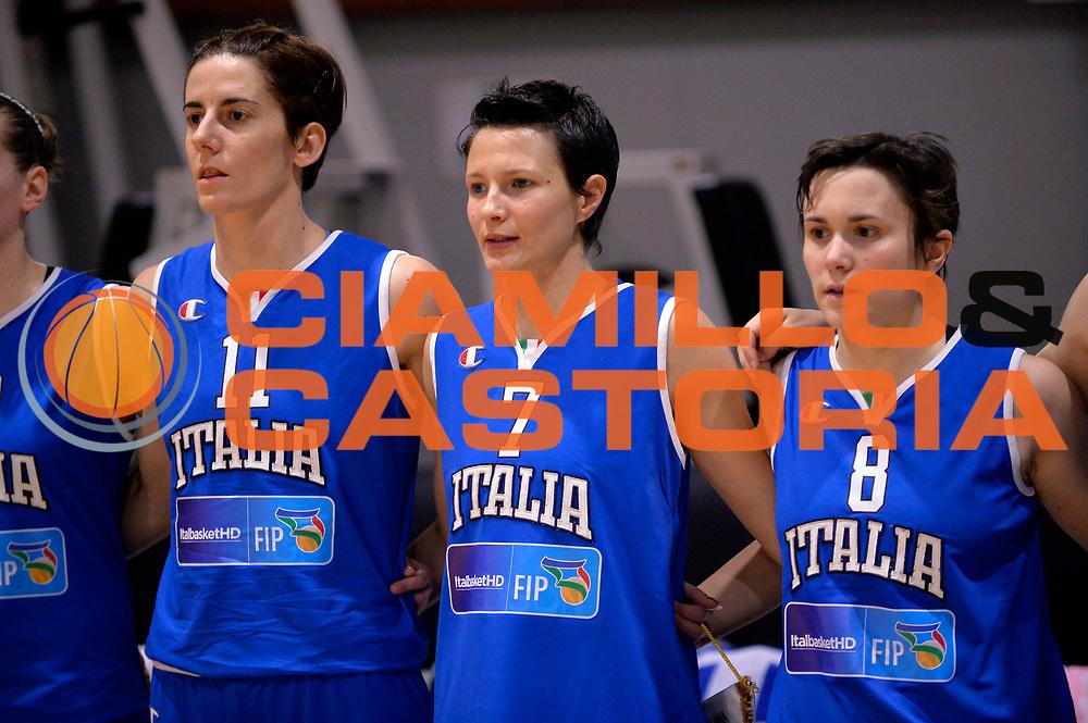 DESCRIZIONE : Roma Amichevole Pre Eurobasket 2015 Nazionale Italiana Femminile Senior Italia Ungheria Italy Hungary<br /> GIOCATORE : Raffaella Masciadri Giorgia Sottana Giulia Gatti<br /> CATEGORIA : presentazione<br /> SQUADRA : Italia Italy<br /> EVENTO : Amichevole Pre Eurobasket 2015 Nazionale Italiana Femminile Senior<br /> GARA : Italia Ungheria Italy Hungary<br /> DATA : 15/05/2015<br /> SPORT : Pallacanestro<br /> AUTORE : Agenzia Ciamillo-Castoria/Max.Ceretti<br /> Galleria : Nazionale Italiana Femminile Senior<br /> Fotonotizia : Roma Amichevole Pre Eurobasket 2015 Nazionale Italiana Femminile Senior Italia Ungheria Italy Hungary<br /> Predefinita :