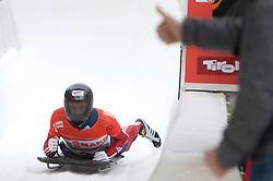 03.12.2011, Eiskanal, Igls, AUT, Viessmann FIBT Bob und Skeleton Weltcup, Skeleton Herren, 2. Durchgang, im Bild Kristan Bromley (GBR) // Kristan Bromley  of United Kingdom after second run men's Skeleton at FIBT Viessmann Bobsleigh and Skeleton World Cup at Olympic ice canal, Innsbruck Igls, Austria on 2011/12/03. EXPA Pictures © 2011, PhotoCredit: EXPA/ Johann Groder