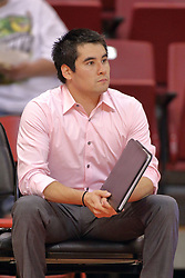 12 October 2013:  Eric Plunkett during an NCAA womens volleyball match between the Missouri State Bears and the Illinois State Redbirds at Redbird Arena in Normal IL