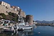 Corsica. France. Calvi citadel and port, Corsica North, France