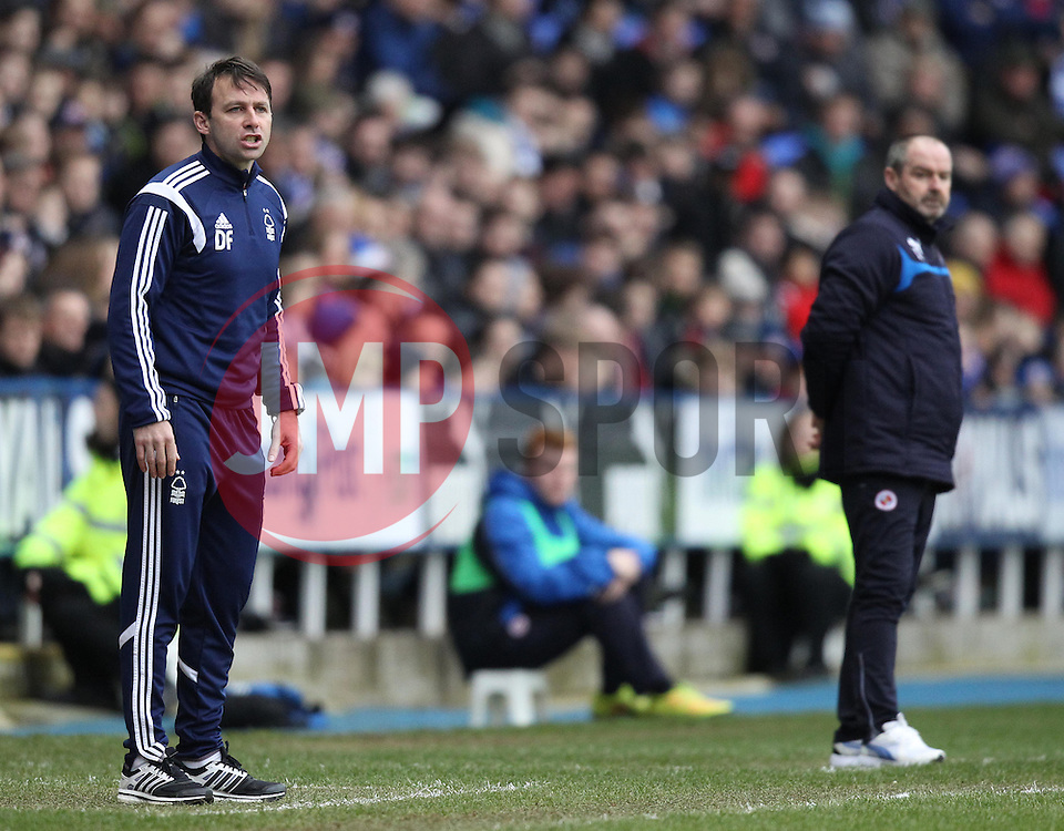 Nottingham Forest Manager Dougie Freedman and Reading Manager Steve Clarke - Photo mandatory by-line: Robbie Stephenson/JMP - Mobile: 07966 386802 - 28/02/2015 - SPORT - Football - Reading - Madejski Stadium - Reading v Nottingham Forest - Sky Bet Championship