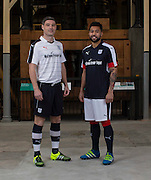 Dundee&rsquo;s Kane Hemmings and Darren O'Dea model the club's 2016-17 home and the away kits<br /> <br />  - &copy; David Young - www.davidyoungphoto.co.uk - email: davidyoungphoto@gmail.com