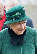 Queen Elizabeth Braves Cold For Church Service