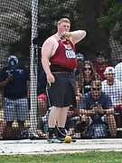 Brock Eager of Washington State places second in the hammer throw at 228-6 (69.65m) during the NCAA West Track & Field Preliminary, Thursday, May 23, 2019, in Sacramento, Calif.