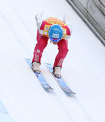 20.12.2014, Nordische Arena, Ramsau, AUT, FIS Nordische Kombination Weltcup, Skisprung, Staffel, im Bild Tino Edelmann (GER) // during Ski Jumping of FIS Nordic Combined World Cup, at the Nordic Arena in Ramsau, Austria on 2014/12/20. EXPA Pictures © 2014, EXPA/ Martin Huber