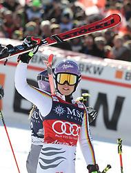 27.01.2018, Lenzerheide, SUI, FIS Weltcup Ski Alpin, Lenzerheide, Riesenslalom, Damen, Flower Zeremonie, im Bild Viktoria Rebensburg (GER) // Viktoria Rebensburg (GER) during the Flowers ceremony for the ladie's Giant Slalom of FIS Ski Alpine World Cup in Lenzerheide, Austria on 2018/01/27. EXPA Pictures &copy; 2018, PhotoCredit: EXPA/ Sammy Minkoff<br /> <br /> *****ATTENTION - OUT of GER*****
