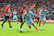 Eden Hazard (10) of Chelsea on the attack during the Premier League match between Southampton and Chelsea at the St Mary's Stadium, Southampton, England on 7 October 2018.