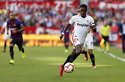 February 23, 2019 - Seville, Madrid, Spain - Quincy Promes (Sevilla FC) seen in action during the La Liga match between Sevilla FC and Futbol Club Barcelona at Estadio Sanchez Pizjuan in Seville, Spain. (Credit Image: © Manu Reino/SOPA Images via ZUMA Wire)