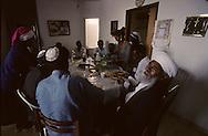 "kees Adana, great raby of the ""bata Israel Jews in Ethiopia and his sohn, Great rabbi of Ethiopian Jews in Israel  Beit Shemesh  Israel  Youssouf adana son fils /// religion ///  judaisme   /// le Kees Adana, grand rabbin des juifs ""Beta israel"" d'Ethiopie, et son fils le grand rabin (sepharade) des Ethiopiens d'israel  Beit Shemesh  Israel youssouf his sohn  /// R00287/    L004339  /  P0007212"