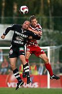 12.08.2007, Vuosaari, Helsinki, Finland..Veikkausliiga 2007 - Finnish League 2007.FC Viikingit - AC Oulu.Ville Lehtinen (AC Oulu) v Kalle Sorja (Viikingit).©Juha Tamminen.....ARK:k